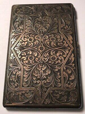 Vintage/ANTIQUE Solid SILVER 925 CIGARETTE Case INTRICATE/FILIGREE DESIGN!!!!