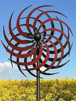 XL Windrad Dur ArtFerro Windspiel Gartenstecker Gartendeko Metall Deko H175  Ø33