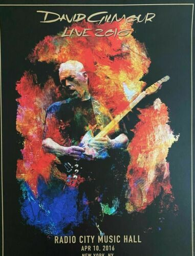 DAVID GILMOUR of Pink Floyd RADIO CITY MUSIC HALL LIMITED LITHOGRAPH 447/450