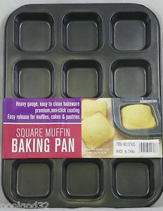 Square Cupcake Pan Kitchen Dining Amp Bar Ebay