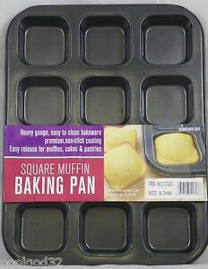 Square Cupcake Pan Kitchen Dining Amp Bar Ebay