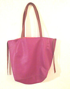 Nordstrom-Purse-Tote-Hand-Bag-Pink-Orange-Tan-Beauty-Spot-Leather-PU ...