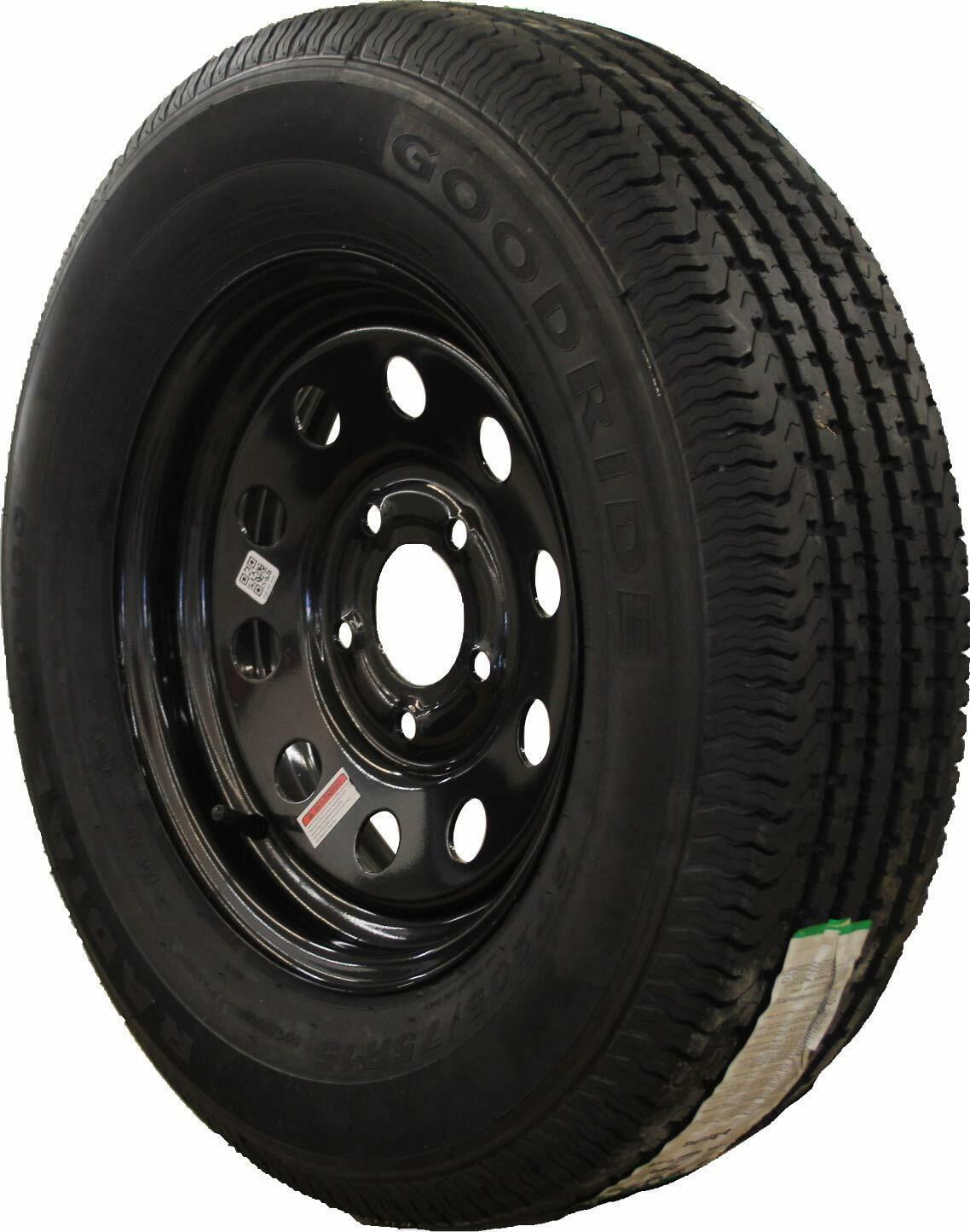 Goodride ST205/75D15 6 Ply Bias Trailer Wheel/Tire Assembly Black MOD 5-4.5
