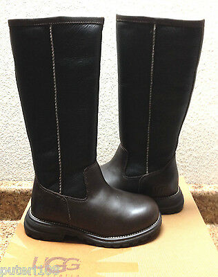 Used, UGG BROOKS BROWN SHEARLING LINED WATER RESISTANT TALL BOOT US 6 / EU 37 / UK 4.5 for sale  Ventura
