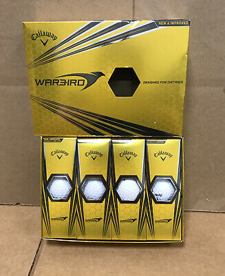 Callaway WarBird Designed For Distance 2016 Golf Balls One Dozen (12) White NEW