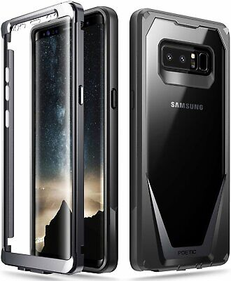 Poetic For Galaxy Note 8 Case,Clear Back Shockproof Protective Cover Black