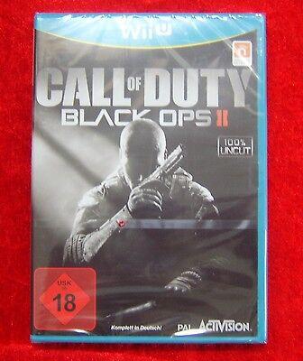 Call of Duty Black Ops II 2 100% uncut USK 18 Wii U Nintendo WiiU Spiel, Neu OVP (Wii-spiel Black Ops)