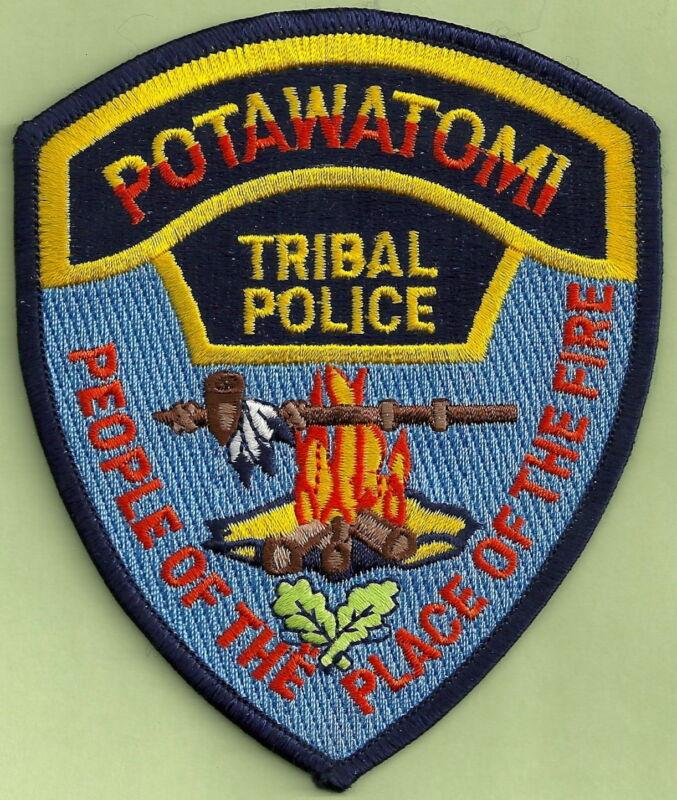 POTAWATOMI OKLAHOMA TRIBAL POLICE SHOULDER PATCH