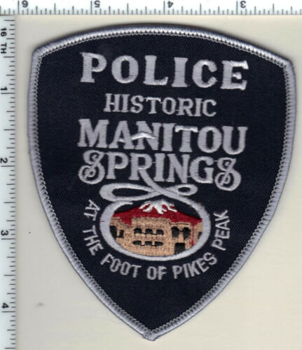 """""""Historic"""" Manitou Springs Police (Colorado) Shoulder Patch - new from 1989"""