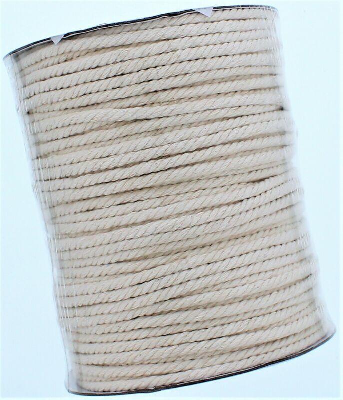100% Natural Cotton 5mm Macrame Cord (110 Yards)
