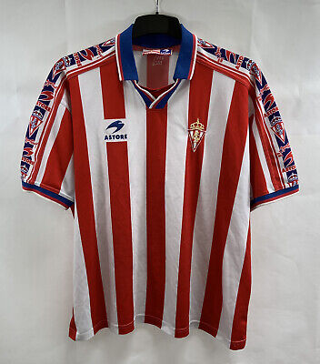 Sporting Gijon Home Football Shirt 1997/99 Adults XL Astore B514 image