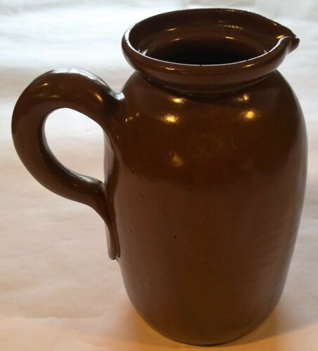 "Large 8"" Bybee Kentucky Pottery Pitcher~Brown~Vintage~NO LID"