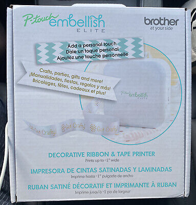 Brother P-touch Embellish Elite Connectable Decorative Ribbon Tape Label Printer