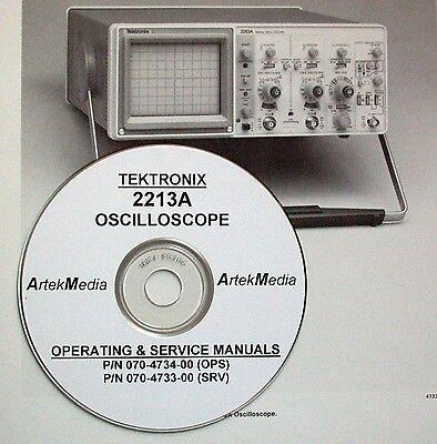 Tektronix 2213a Operating Service Manuals 2 Vol