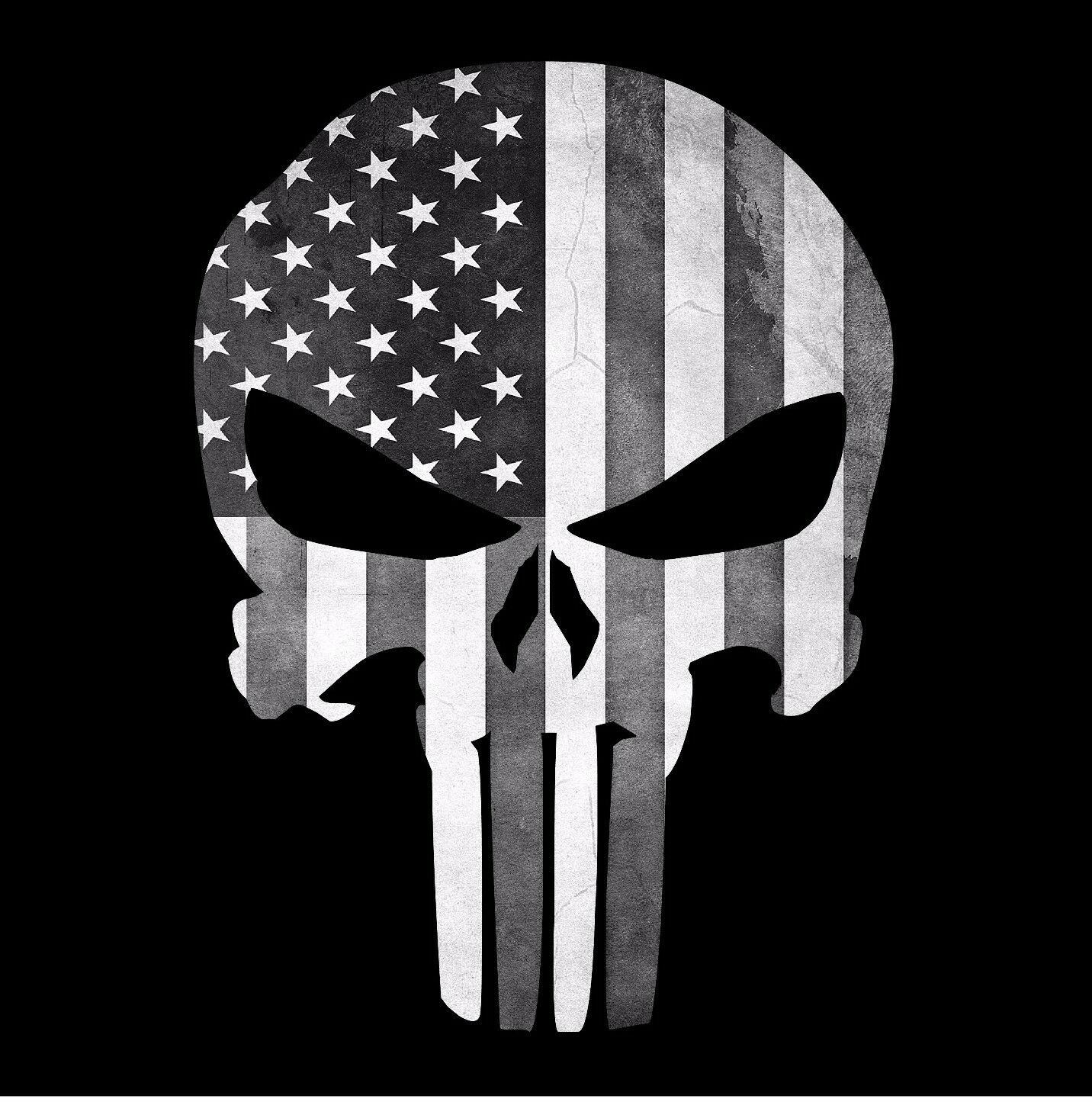 punisher skull flag american decal graphic sticker