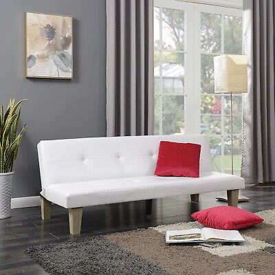 Futon Sofa Bed Sleeper Lounge Chair Furniture Convertible Couch w/ (2) Pillow