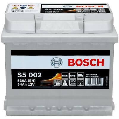 Autobatterie Bosch 12V 54Ah S5002 Starterbatterie PKW KFZ Batterie 0 092 S50 020
