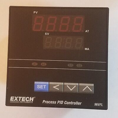 Extech 14 Din Temperature Pid Controller 96vfl11 Two Relay Outputs New