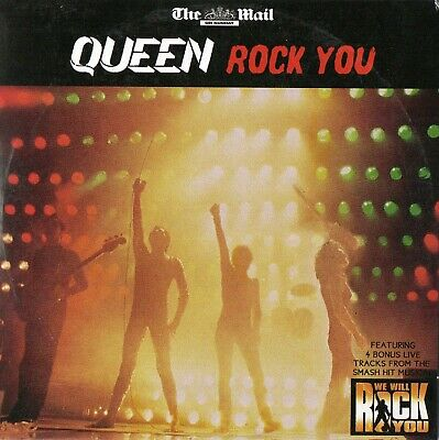 QUEEN - ROCK YOU (LIVE)  10 Great Live Tracks (see listing for details) PROMO CD