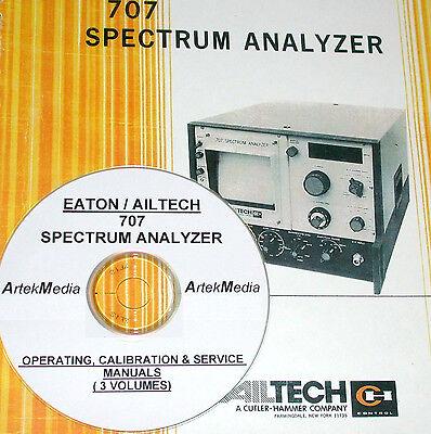 Ailtech 707 Spectrum Analyzer Operating Service Manuals 3 Volumes