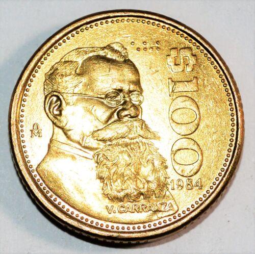 1984 $100 PESOS coin MEXICO vintage world large snake 100 BU UNCIRCULATED