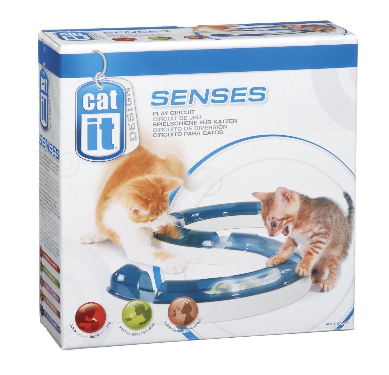 Spielschiene Katze Spielzeug Kugel Geschicklichkeit Spieltrieb Katzenspielzeug