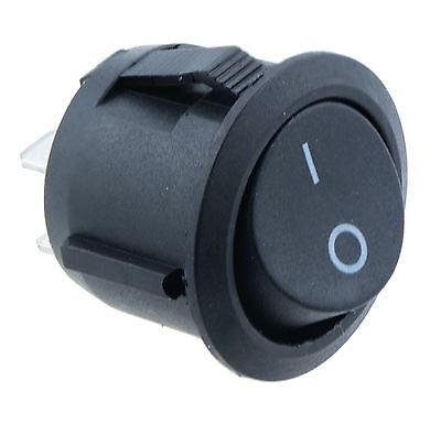 Round Circular On-Off 20mm Rocker Switch SPST Car Dash Boat