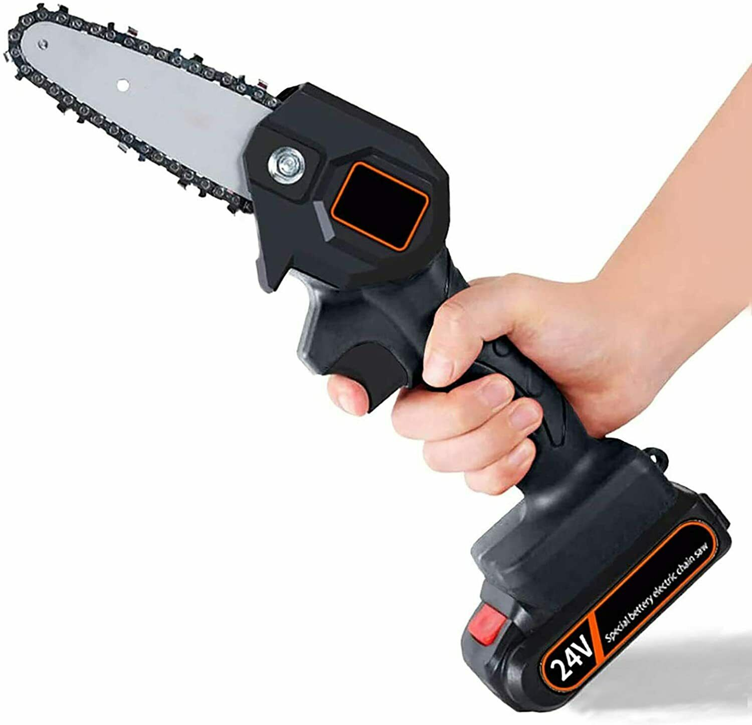 Mini Chainsaw, 4 Inch Cordless Electric Protable Chainsaw Re