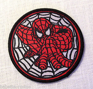 ecusson patch applique a coudre rond spider man