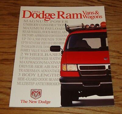 Original 1996 Dodge Ram Van & Wagon Sales Brochure 96 Dodge Ram Van Wagon