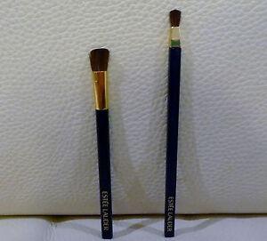 Set of 2 ESTEE LAUDER Makeup Eye Brushes, Travel Size, Brand NEW! 100% Genuine!!