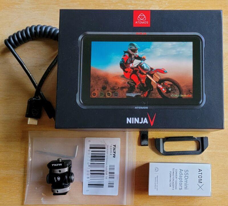 Atomos Ninja V with 500GB SSDmini and Accessories
