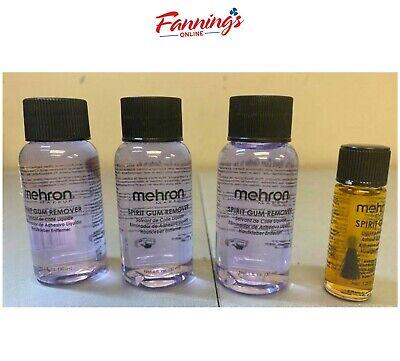 Mehron Spirit Gum with Remover Liquid Adhesive With 3 Removers (No Box)