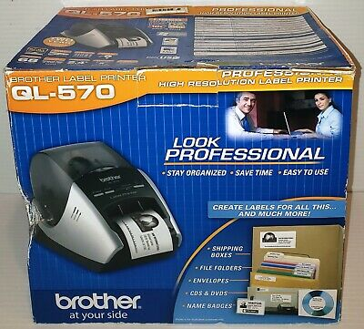 New In Opened Box Brother Ql-570 Professional Label Thermal Printer