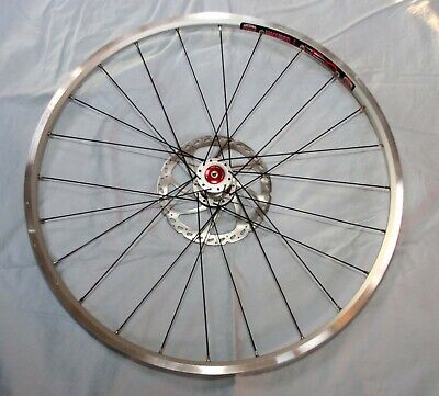 """Cannondale Lefty 26"""" front wheel 24s Sun UFO rim, extra light, w/rotor NEW!"""