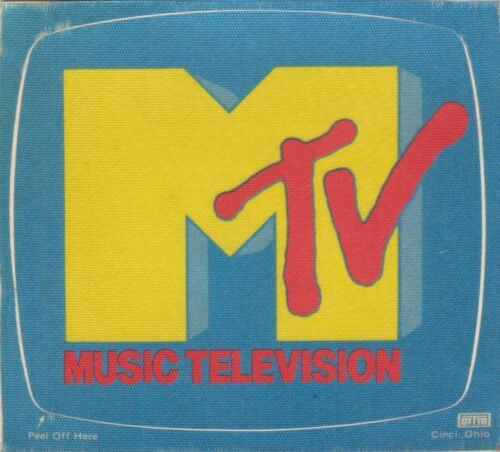 ViNtAgE - MTV MUSIC TELEVISION STICKER / PATCH Material DECAL