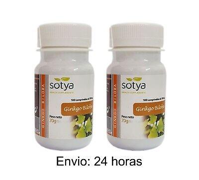 2 x GINKGO BILOBA 100 Comprimidos de 700mg SOTYA - Circulacion Memoria