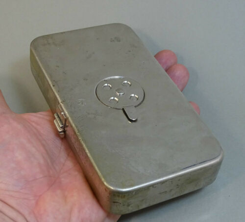 Old Small Pocket German Surgical Set 1920s, Sterilizing Box DRGM