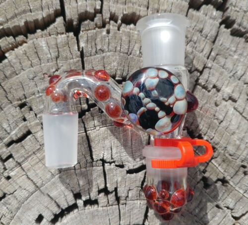 Red Implosion 18mm Female to 18mm Male Glass Reclaim Removable Jar USA