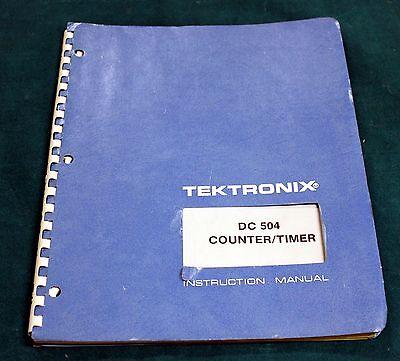 Tektronix Dm 504 Instruction Manual