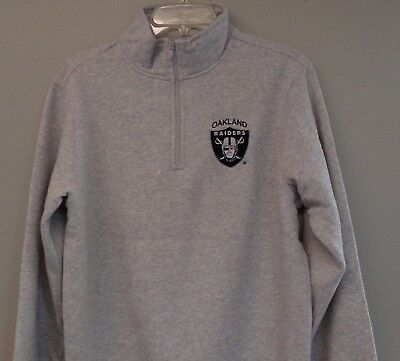 - NFL Oakland Raiders Logo 1/4 Zip Heavyweight Fleece Pullover XS-4XL, LT-4XLT New