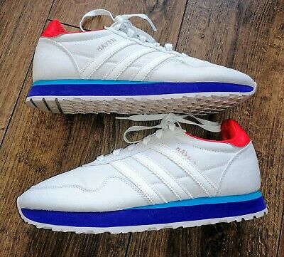 Men's Adidas Originals Haven Trainers White With Blue Base in UK 7 UK