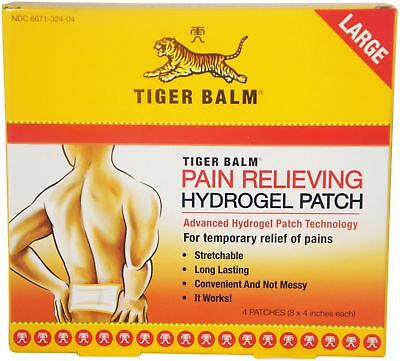 Tiger Balm Patch Large 4 Each (Pack of 6)