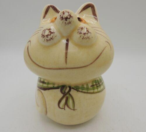 Los Angeles Potteries Cat Shaker Hand Painted Vintage 70
