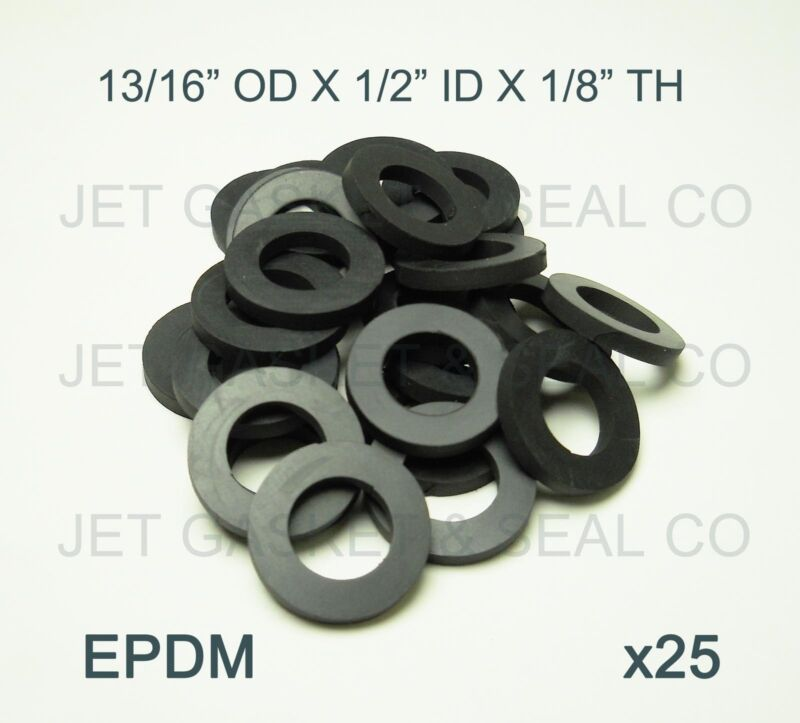 BEER NUT WASHERS 25-PACK DRAFT BEER FITTINGS SHANK GASKET EPDM