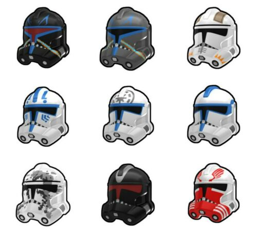 Arealight Custom P2 Clone TROOPER Helmet for Star Wars Minifigs -Pick Color!