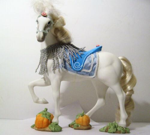 Beautiful ! Fantasy WHITE STALLION Horse Figurine Statue Carousel Fine Porcelain