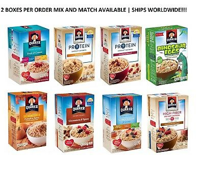 Quaker Instant Oatmeal Hot Cereal Pick N CHOOSE SET OF 2 BOXES + EASY SHIP (Hot Oatmeal Cereal)