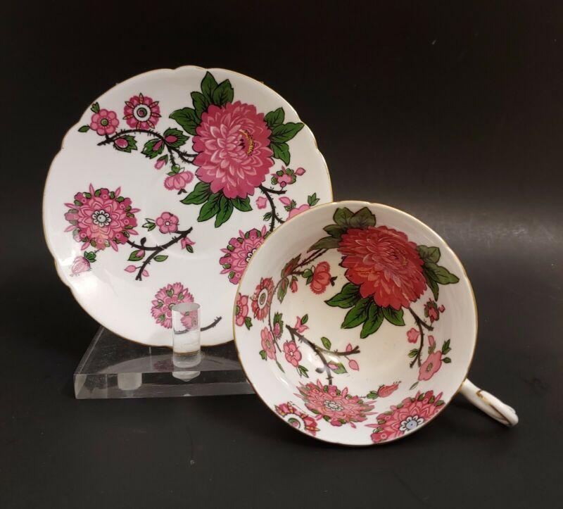 """RARE Shelley """"JACOBEAN"""" Tea Cup & Saucer England"""