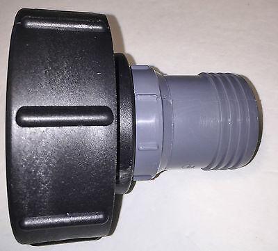 275 330 Gn Ibc Tote Tank Drain Adapter 4  Coarse Thread X 2  Hose Barb